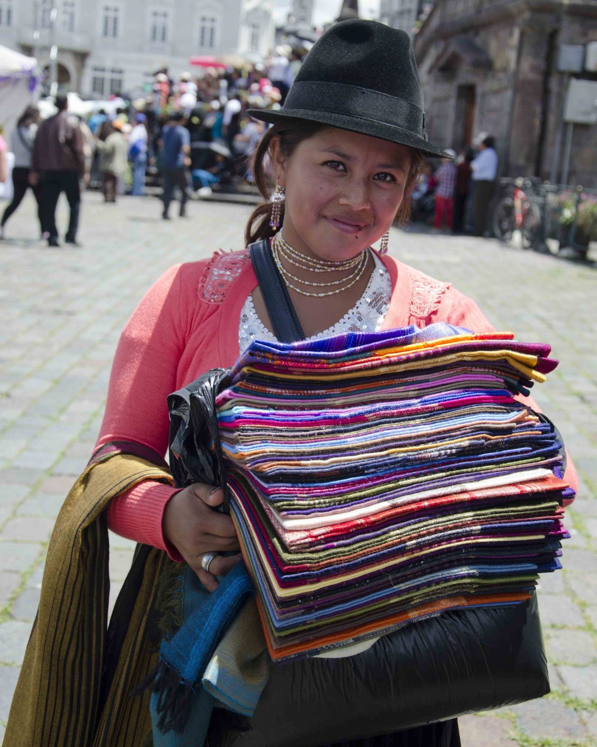 Marta, Plaza San Francisco, in the Historic Center, Quito | ©Angela Drake