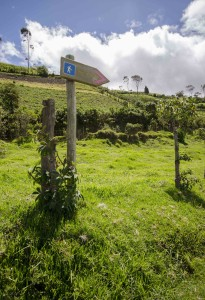 Sign post for Hikers, Road to Refugio of Guagua Pichincha