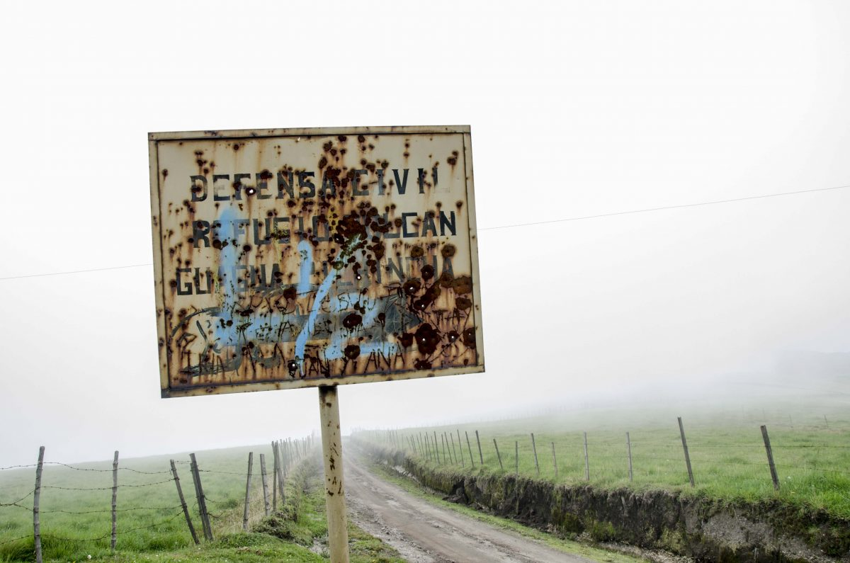 Old Sign, Road to the Refugio of Guagua Pichincha