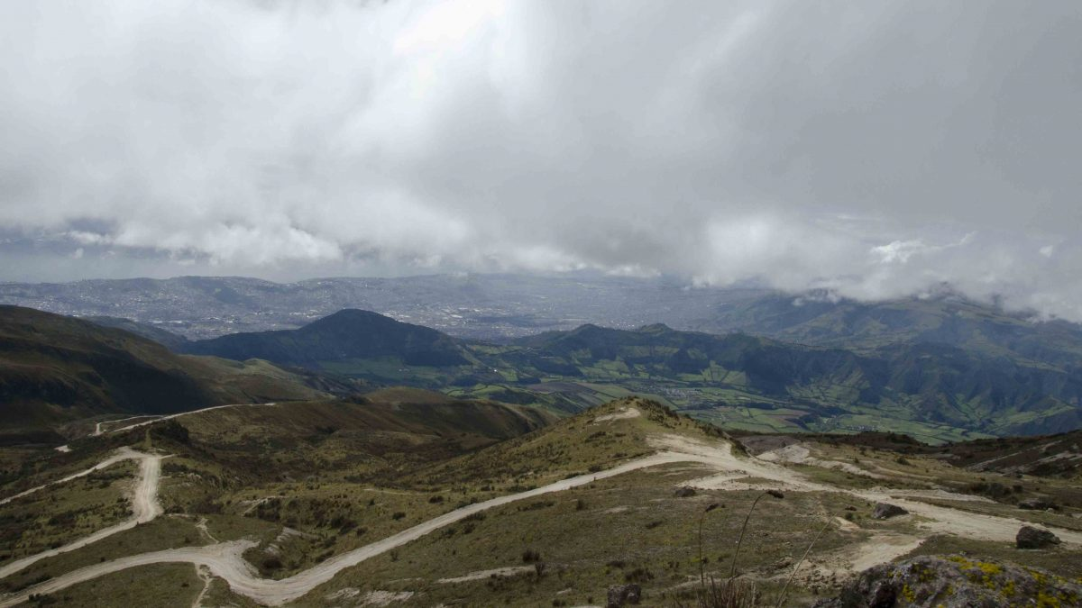 Final dirt roads, Refugio of Guagua Pichincha, Ecuador