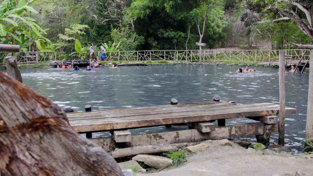 Locals enjoying the water