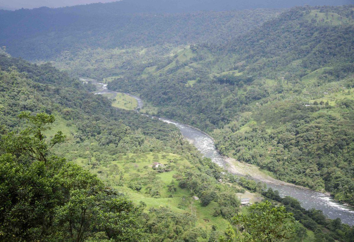 View of Rio Blanco, San Miguel de los Bancos, Ecuador