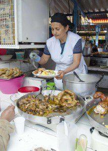 Rosario serving Chitlins