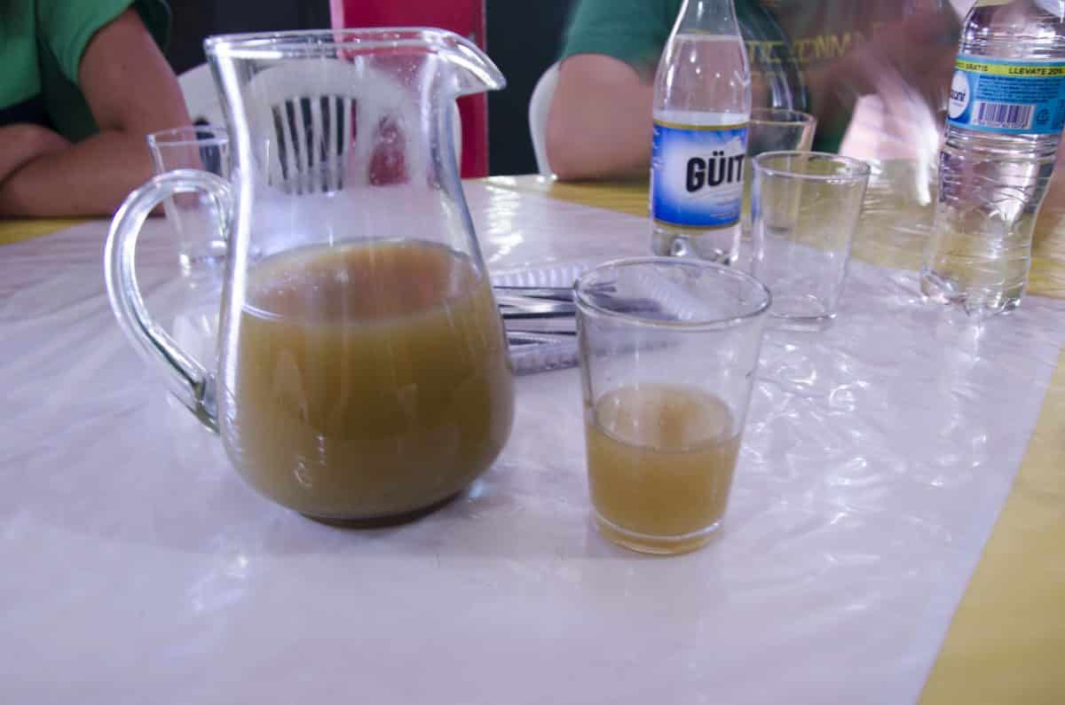 Chicha de Jora - lightly fermented drink made from corn, cane sugar, spices, and herbs.