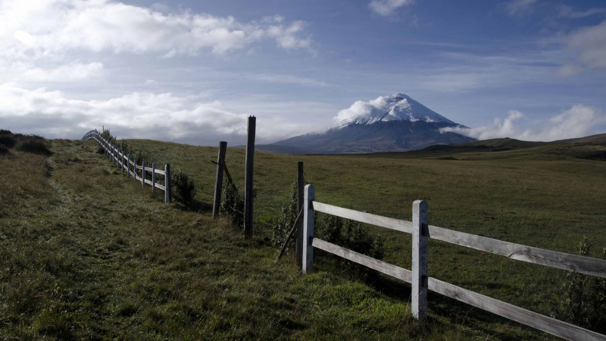 The Volcano Cotopaxi as seen from Los Mortiños | ©Angela Drake
