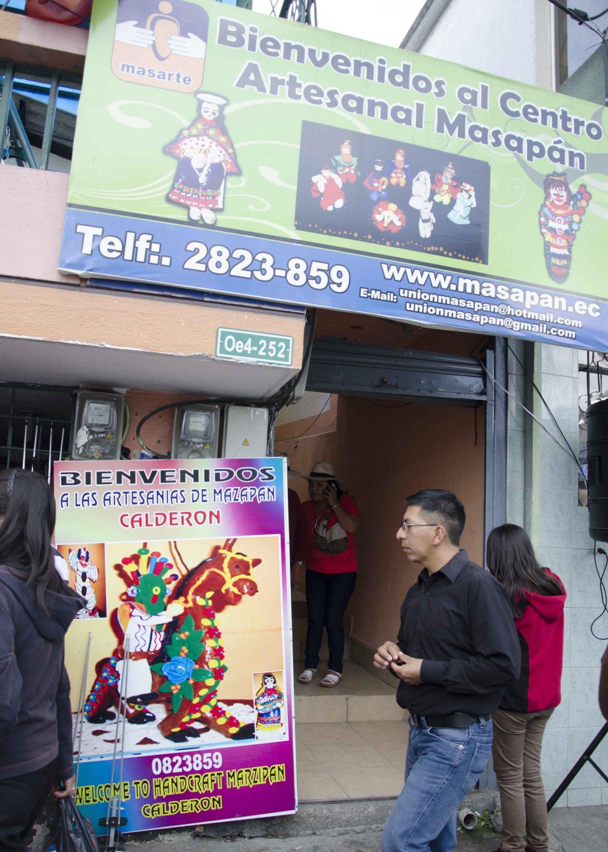 Entrance to the Mazapán Artists, Calderón, Ecuador | © Angela Drake