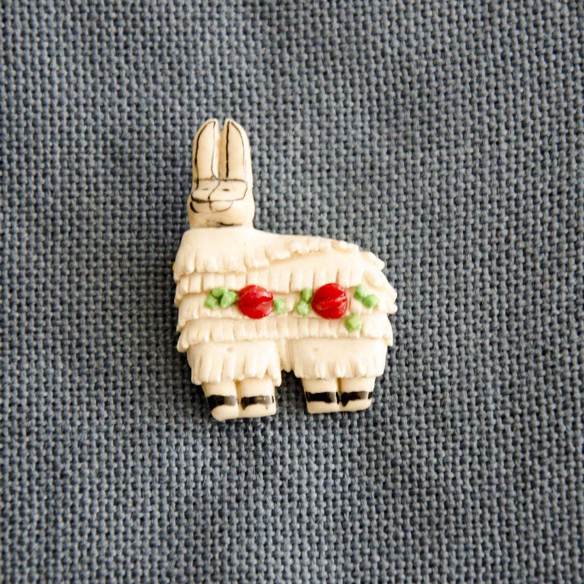 Lapel Pin of Mazapán from Calderón, Ecuador | @Angela Drake
