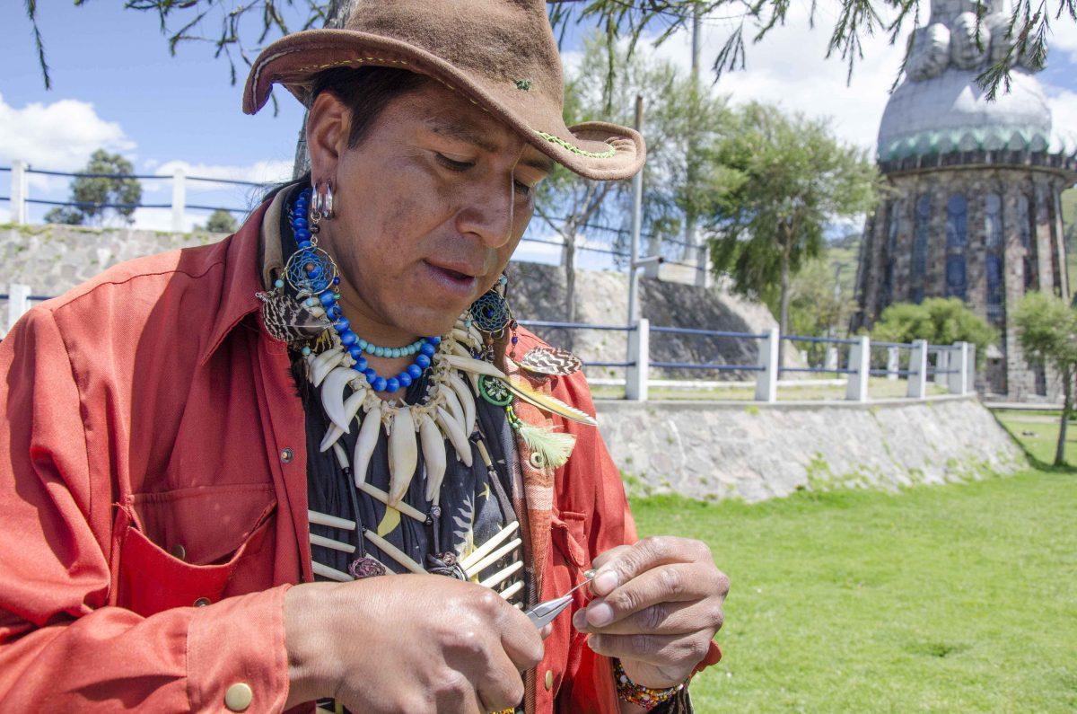 Lobo Oso Chillon Carva, Artist, Lakota-Quichua, Cotopaxi, Ecuador