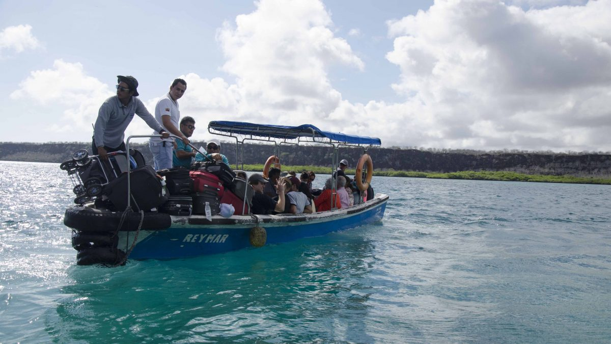 Water Taxi/Ferry from Baltra to Santa Cruz, the Galapagos