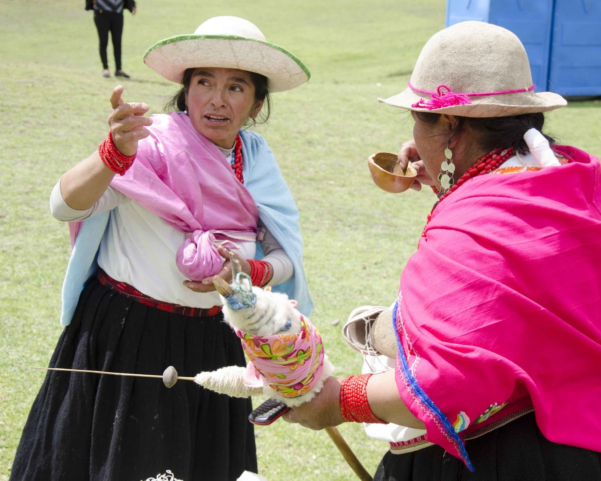 Sharing Chicha de Jora at the Mushak Nina festival in Cochasquí, Pichincha, Ecuador