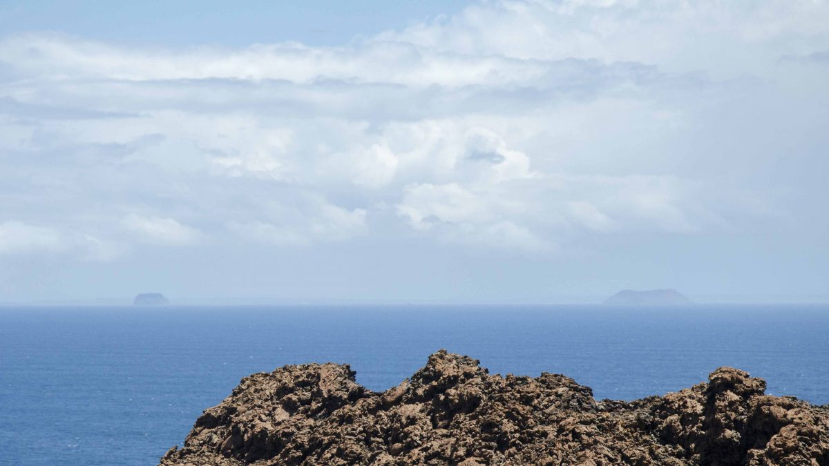 Daphnes in the Distance, seen from Bartolome Island, the Galapagos