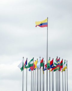 Flags give the Malecon a Naval Air
