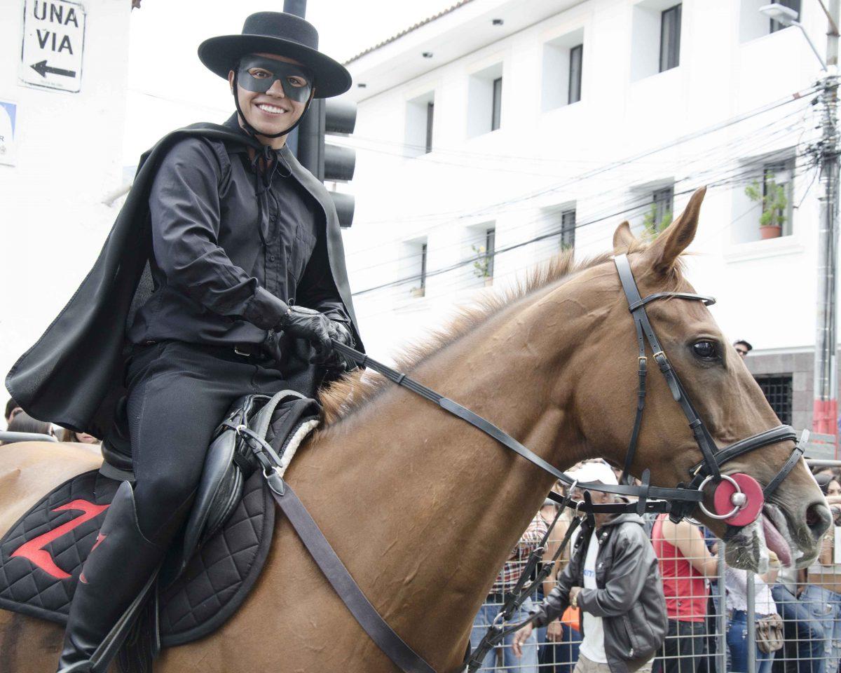 A race winner, or Zorro, from last year's Cacería del Zorro Parade | ©Angela Drake