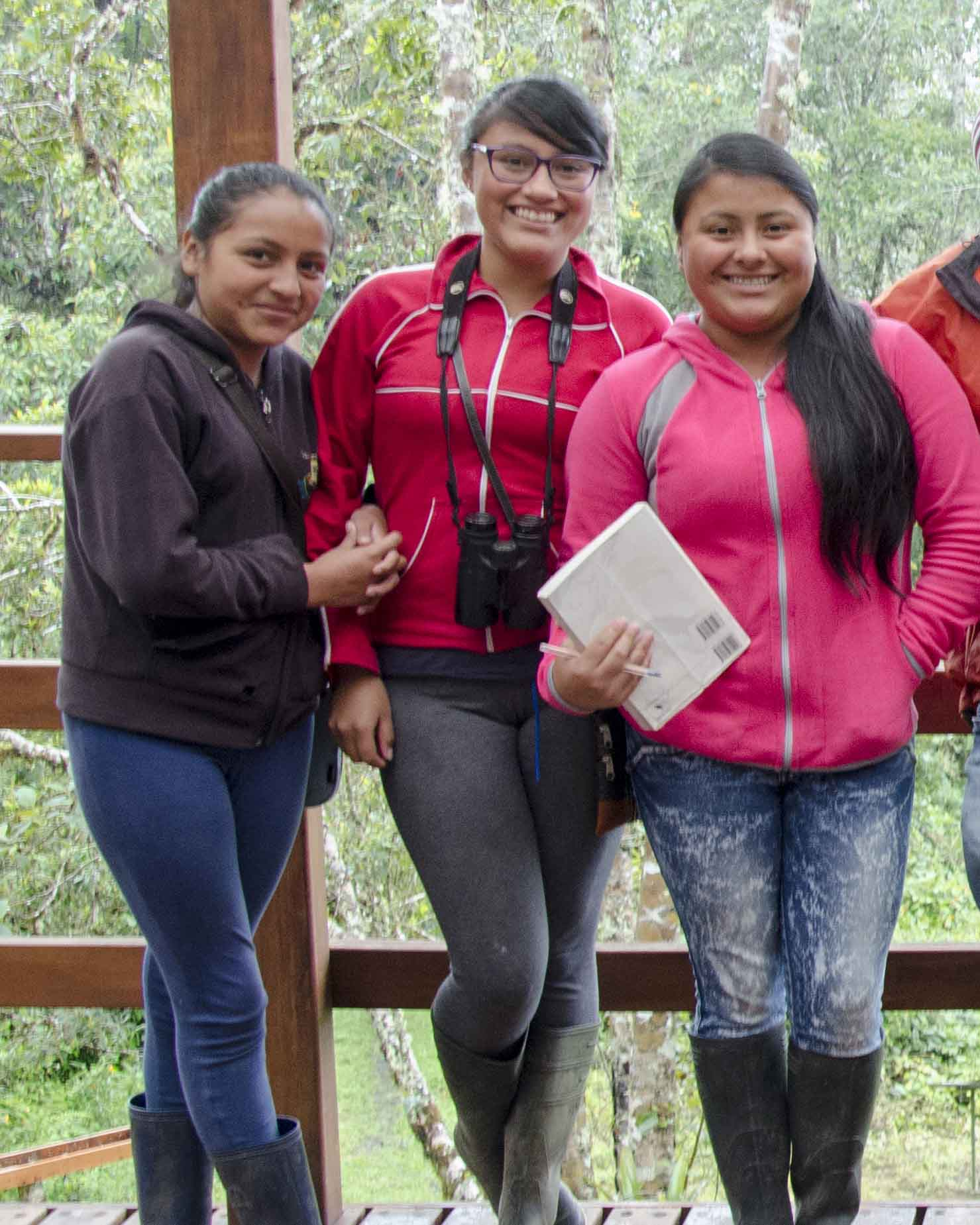 Potential future tour guides from Cosanga, Ecuador | ©Angela Drake