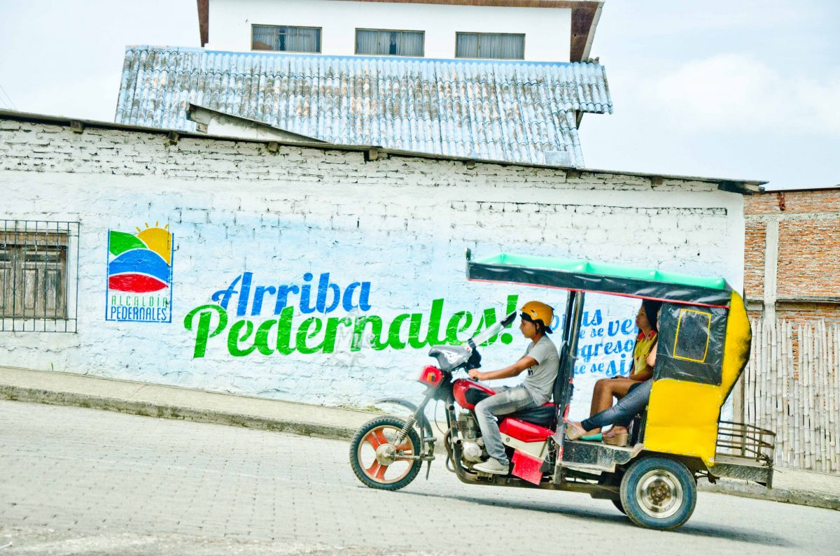 Tricycle Taxis are common in Pedernales, Ecuador | ©Angela Drake / Not Your Average American
