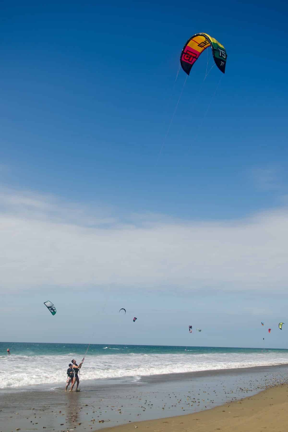 Windsurfing in Santa Marianita, Ecuador | ©Angela Drake / Not Your Average American