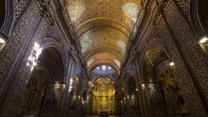 Rather than share over-exposed photos that show too much gold, this is a more realistic view of how you will see the church.