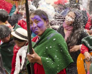 Colored flour, Carnaval in Guamote