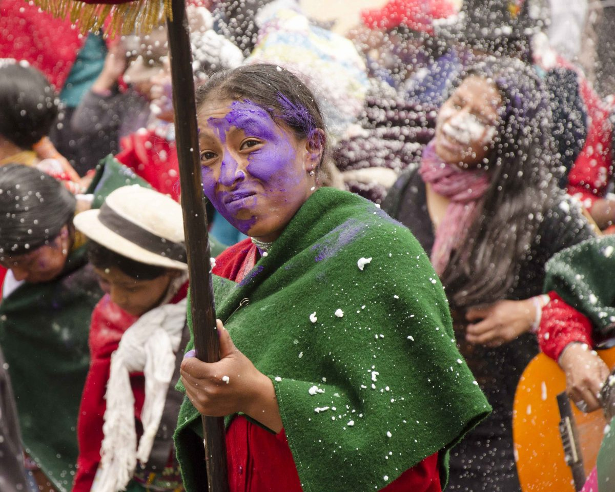 Colored flour, Carnaval in Guamote | ©Angela Drake