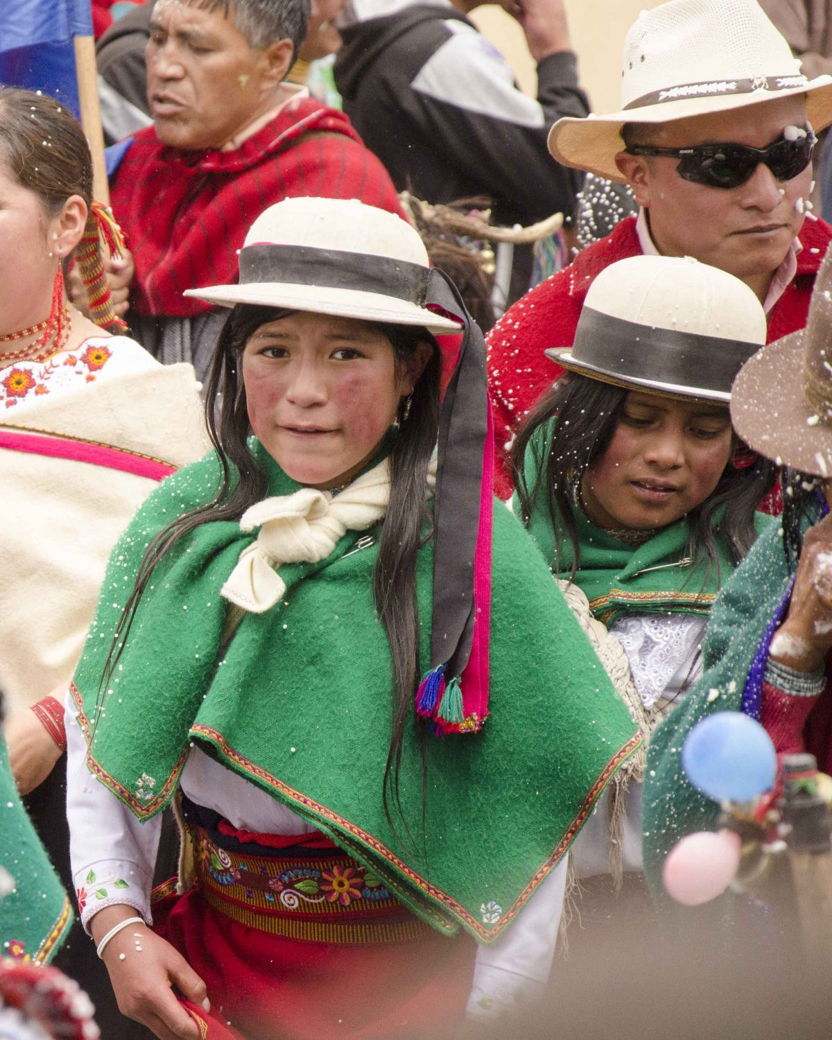 Parade Participant in Guamote; Carnival Weekend, Ecuador | ©Angela Drake
