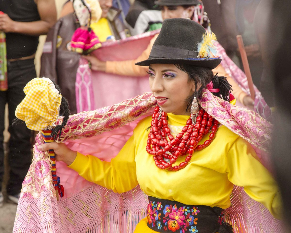 Dancer in Guamote, Ecuador | ©Angela Drake