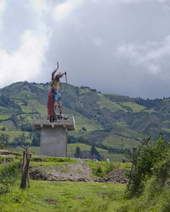 Backroads Ecuador; Statue in Sigchos