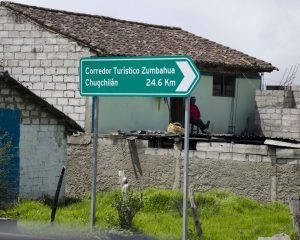 Backroads Ecuador, sign to Chugchilán
