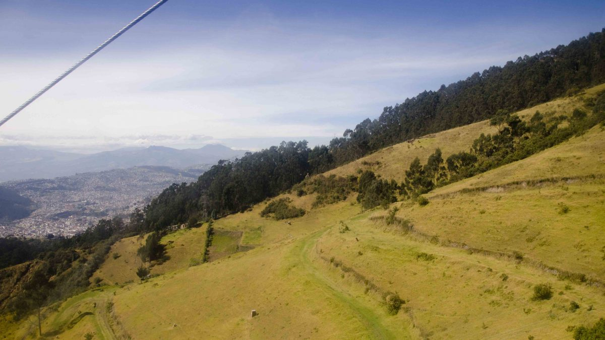 View from a Cable Car, Hiking Pichincha, Quito, Ecuador | ©Angela Drake