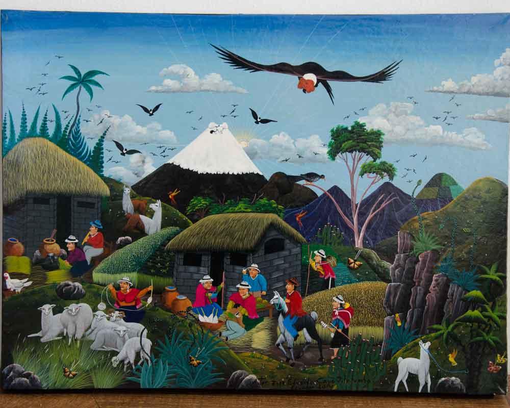 Folkart from Tigua, Ecuador, by Jose Eduardo Cayo Pilalumbo