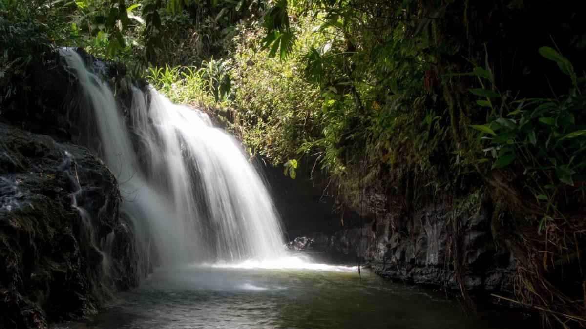 The final cascade, Cascadas Yanayacu, Napo Province, Ecuador