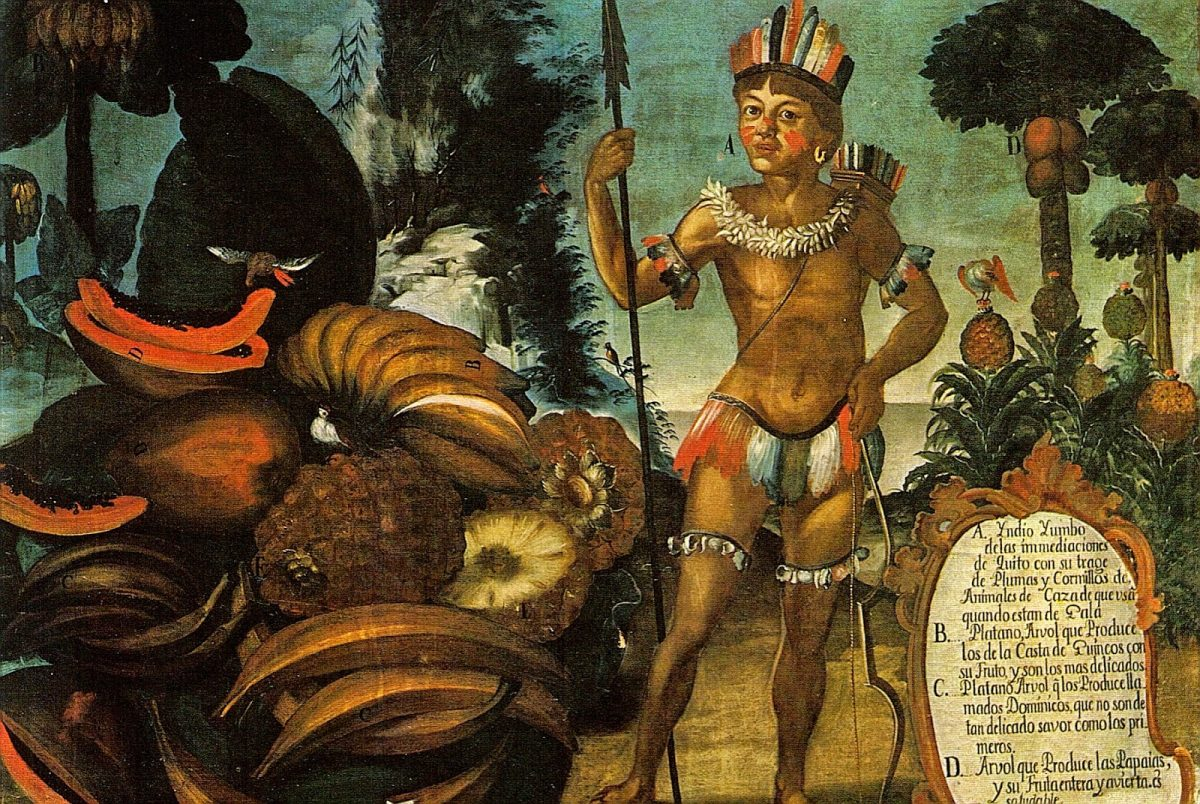 A Yumbo in art from the Quito School, Vicente Albán, ca 1783.