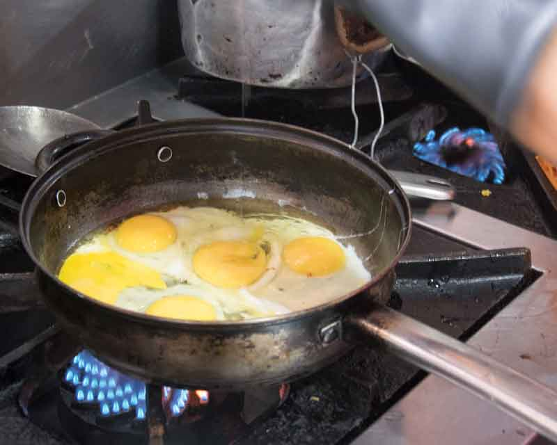 Add two eggs per person; recipe for tigrillo