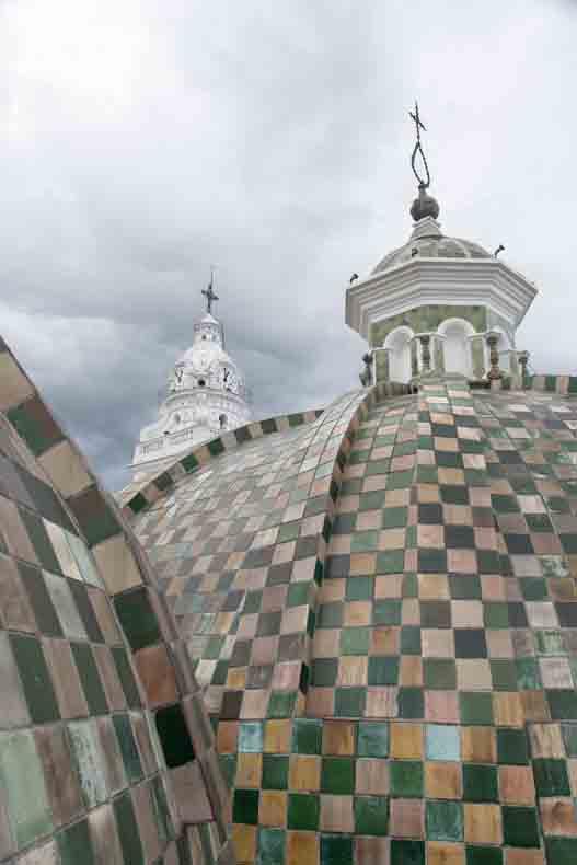 Domes of Iglesia Santo Domingo, Quito, Ecuador