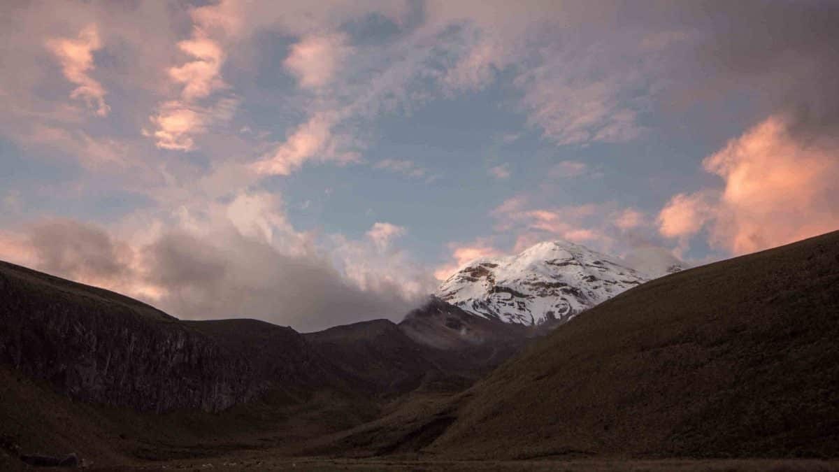 View of Chimborazo from the very high altitude location at Chimborazo Lodge | ©Angela Drake