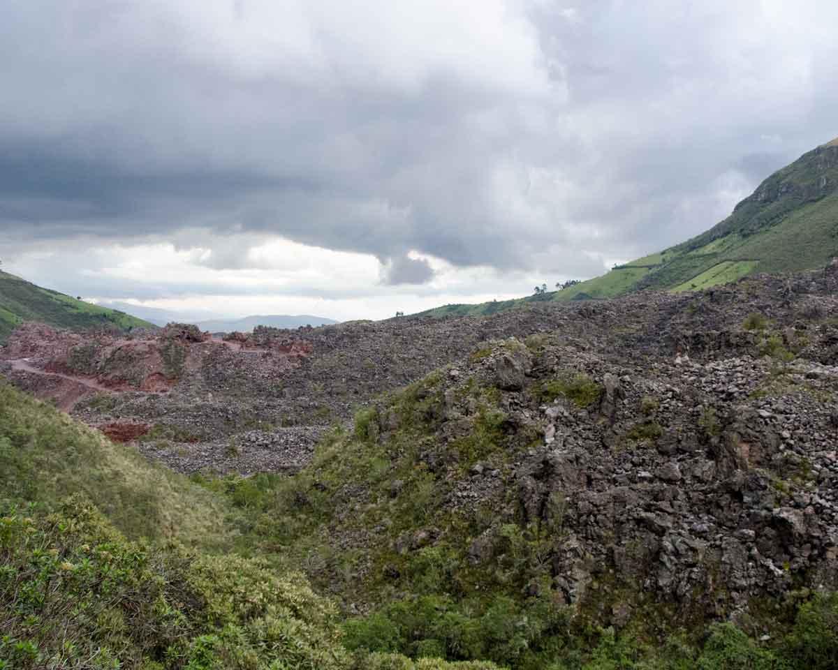 Volcanic Moraine on the Road to Laguna Mica | ©Angela Drake