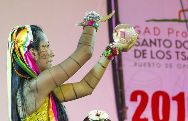 The Tsáchila Nation celebrates the traditional Festival of Kasama in Santo Domingo, Ecuador.