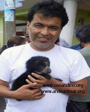 Armando with Pinocchio | Printed with permission from Armando Castellanos, the Andean Bear Foundation