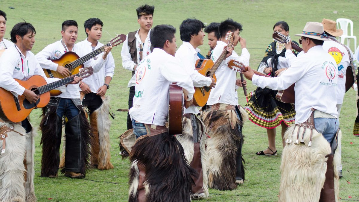 Band Plays Musica Andina at Mushak Nina Celebration, Cochasquí, Ecuador | ©Angela Drake