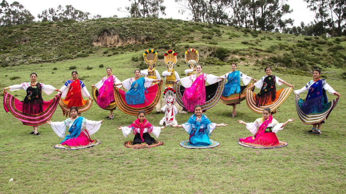 Dance Troupe at Mushak Nina Celebration, Cochasquí, Ecuador | ©Angela Drake