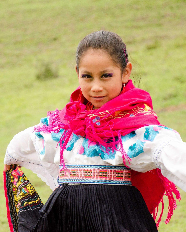 Dancer at Mushak Nina Celebration, Cochasquí, Ecuador | ©Angela Drake