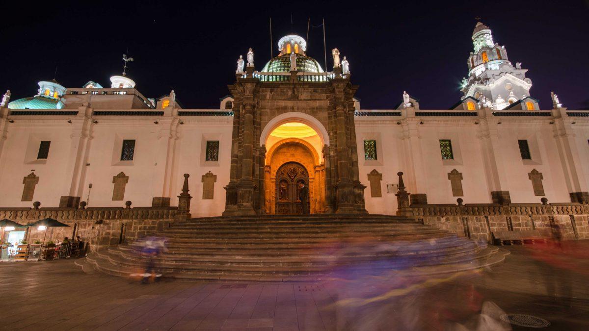 Doorway of the City Cathedral, Historic Quito, Ecuador | © Angela Drake