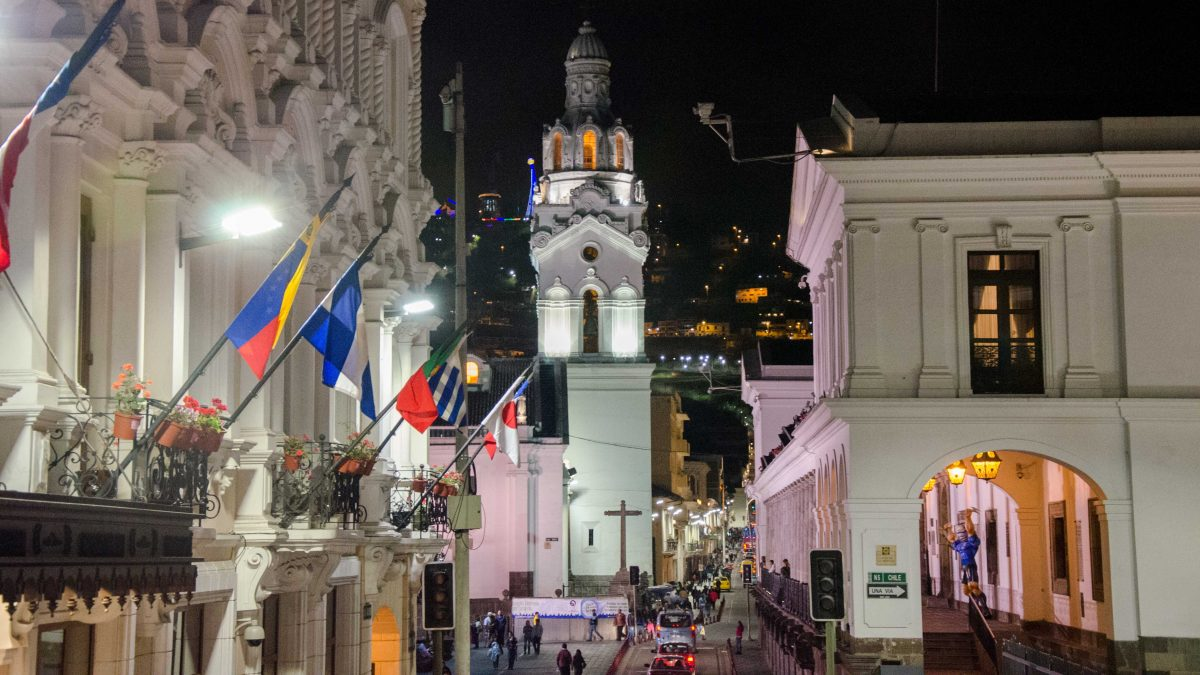 Looking towards the Plaza de Independencia and Cathedral, Quito, Ecuador | © Angela Drake