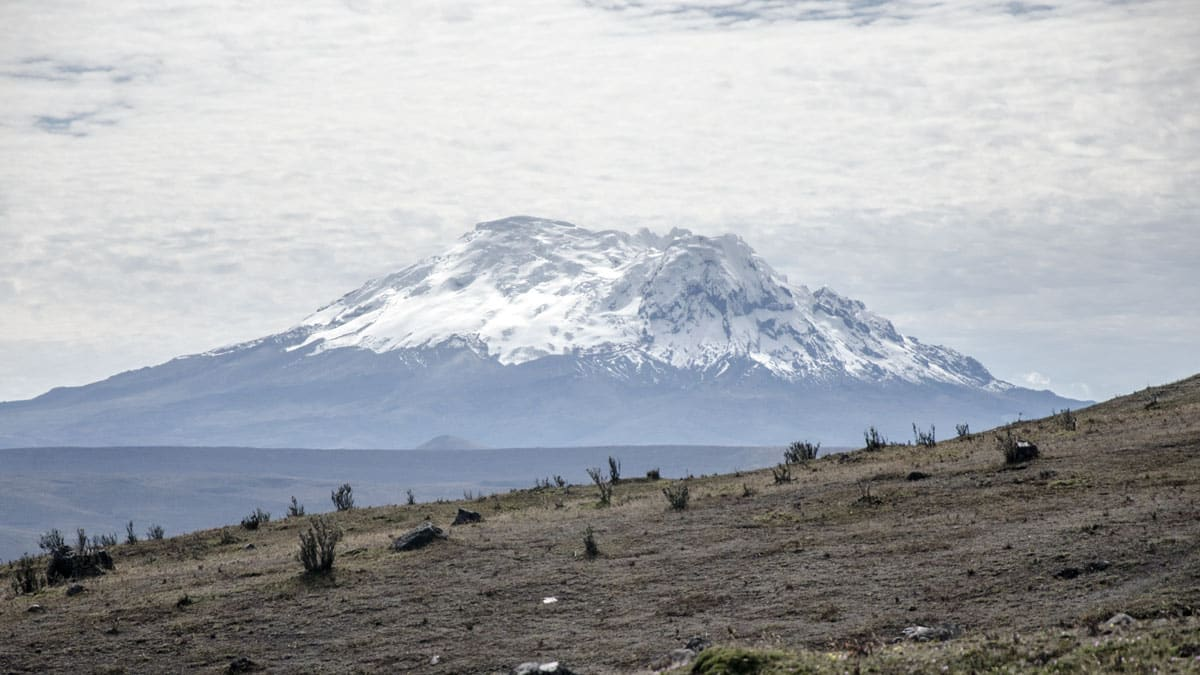 The Volcano Antisana photographed the Refugio Switchback Trail, Cotopaxi National Park, Ecuador | July 2014 | © Angela Drake