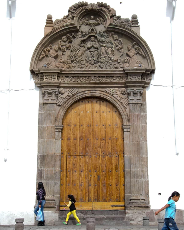 Doorway of Iglesia Santa Clara, Quito, Ecuador | ©Angela Drake