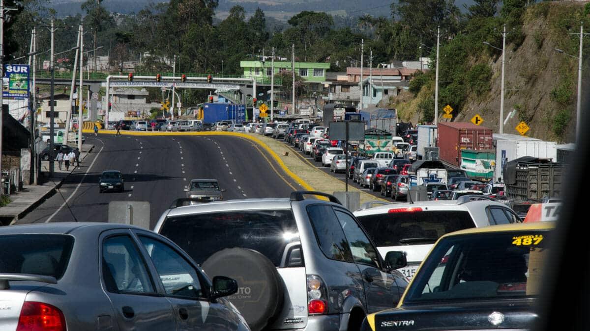 Weekend Traffic Near Quito | ©Angela Drake