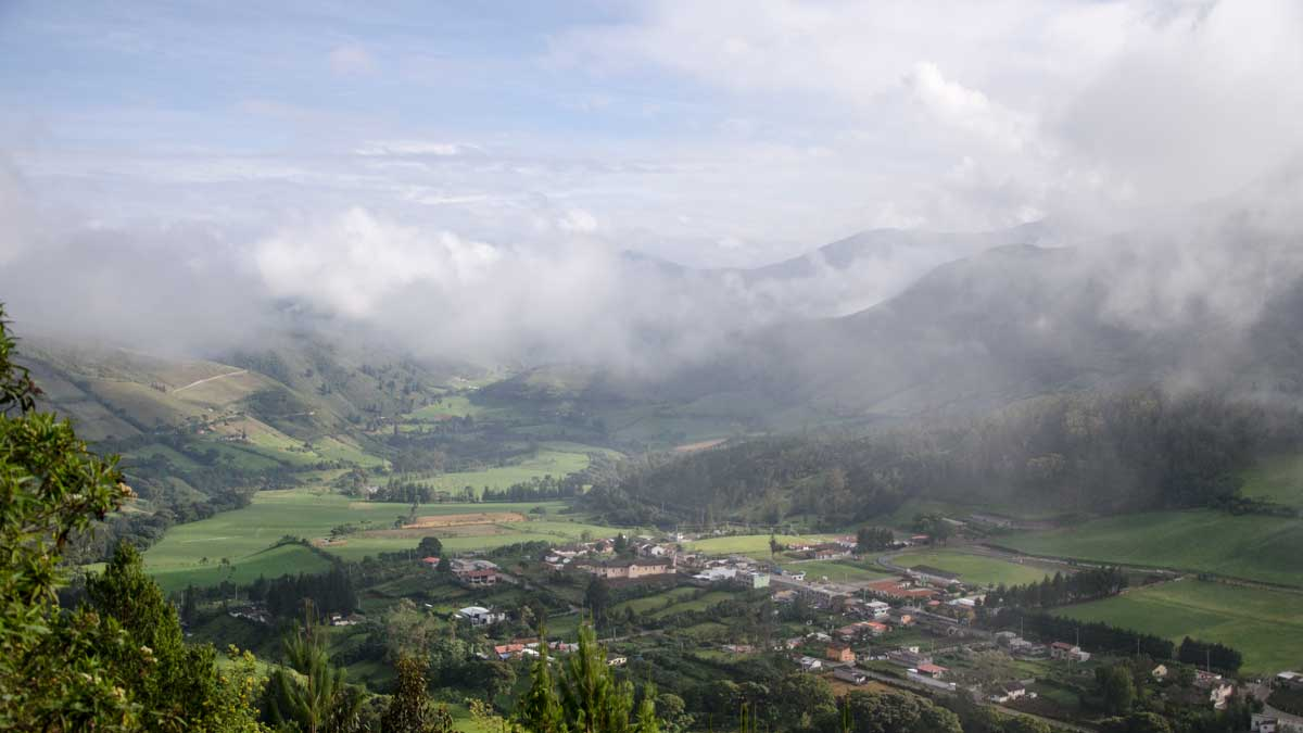 Nono, Ecuador as seen from the road to Yanacocha | ©Angela Drake