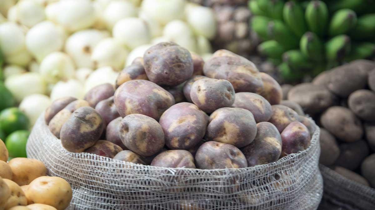 Potatoes, Plaza Mercado de Paloquemao | ©Angela Drake