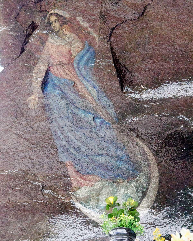 Close-up of the painting of the Virgen de Alambí, Ecuador | ©Angela Drake