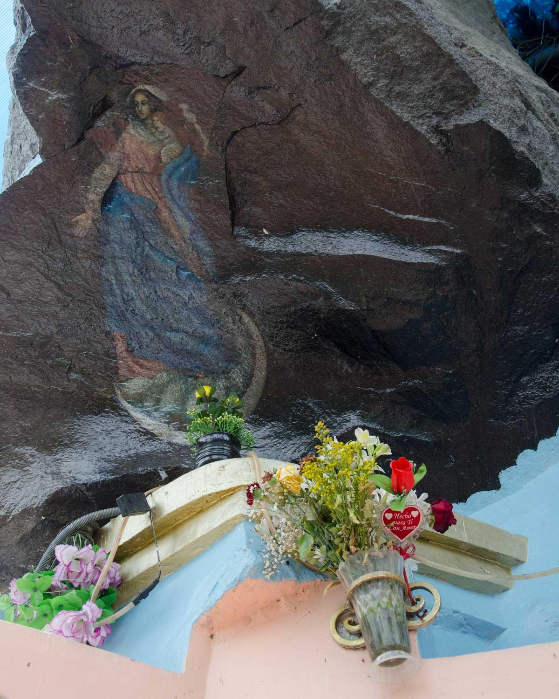 The painting and shrine of the Virgen de Alambí, Ecuador | ©Angela Drake