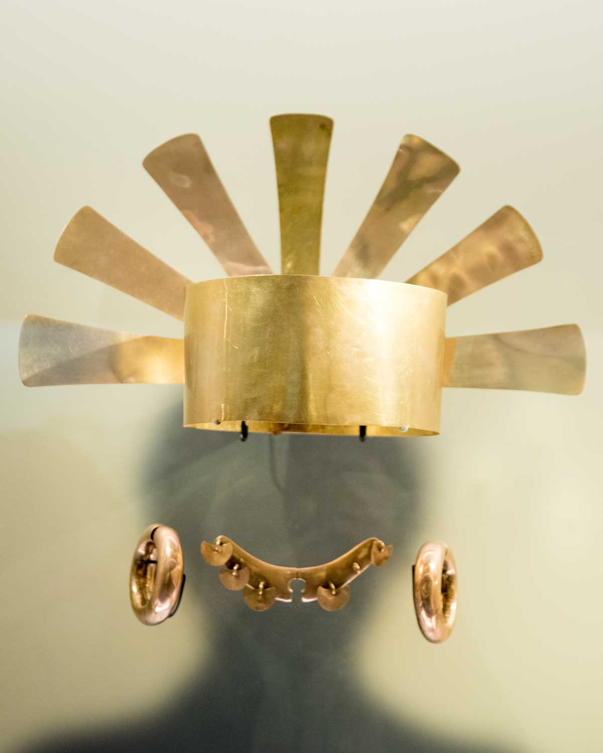 Crown and Other Adornments   Gold Museum Bogota   ©Angela Drake